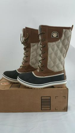Global Win Womens Brown Snow Boots Size 8.5