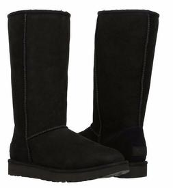 New & Authentic UGG Womens Classic Tall II Black Pull On Win