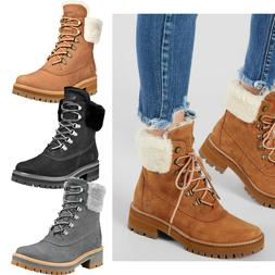 Womens TIMBERLAND COURMAYEUR VALLEY 6 In Shearling Boots Win