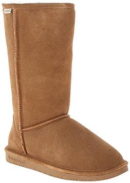 Bearpaw Womens Emma Tall 12-Inch Suede Sheepskin Boot, Hicko