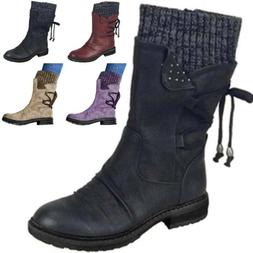 womens fleece ankle boots lace up ladies