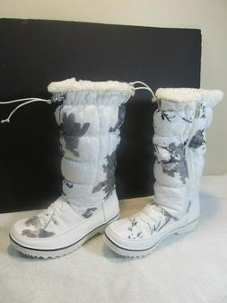 WOMENS GLOBALWIN Global WIN TALL WHITE SNOW BOOTS New us 6.5