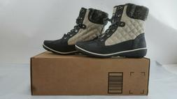 Global Win Womens Grey Snow Boots Size 7.5