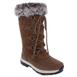 Bearpaw Womens Gwyneth Brown Suede Winter Boots Shoes 10 Med