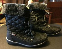 Womens Global Win Lace Up Black Winter Boots size 7 1/2 Grea