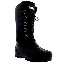 Womens Muck Lace Up Rain Nylon Waterproof Winter Snow Duck M