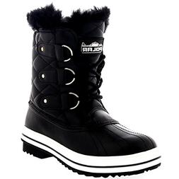 womens snow boot quilted short winter snow