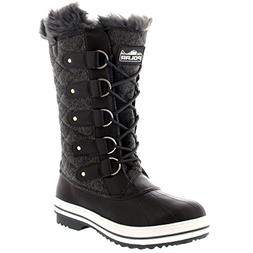 Polar Products Womens Snow Boot Quilted Tall Winter Snow Wat
