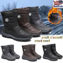 Womens Waterproof Winter Snow Ankle Boots Warm Fur Lined Cas