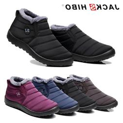 Womens Winter Snow Boots Waterproof Plush Lining Flat Ankle