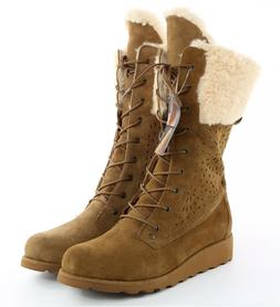 Womes Bearpaw Kylie Lace Up Winter Boots - Hickory, Size 12