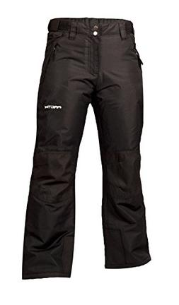 Arctix Youth Snow Pants with Reinforced Knees and Seat, Blac