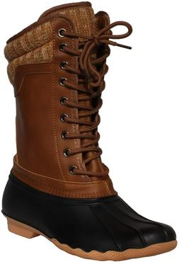 z emma womens winter mid calf booties